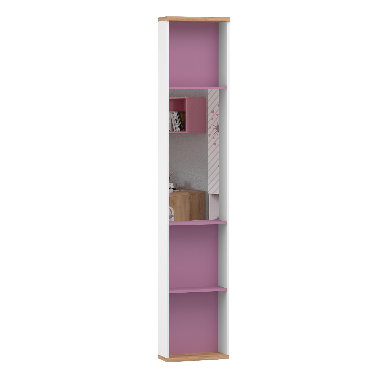 Lubidom Jugendzimmer Regal mit Spiegel Urban in Pink