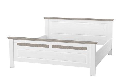 Schlafzimmerbett Leopold in Weiß 200x200