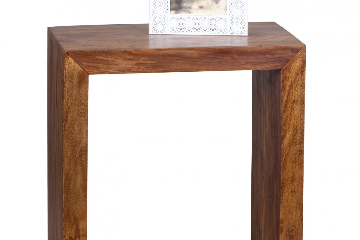 Massivholz Beistelltisch 60 x 35 x 60 cm Sheesham