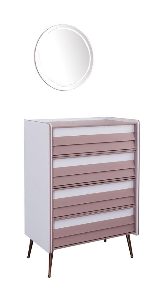 Titi Kleiderkommode Rosi mit Spiegel und 4 Schubladen