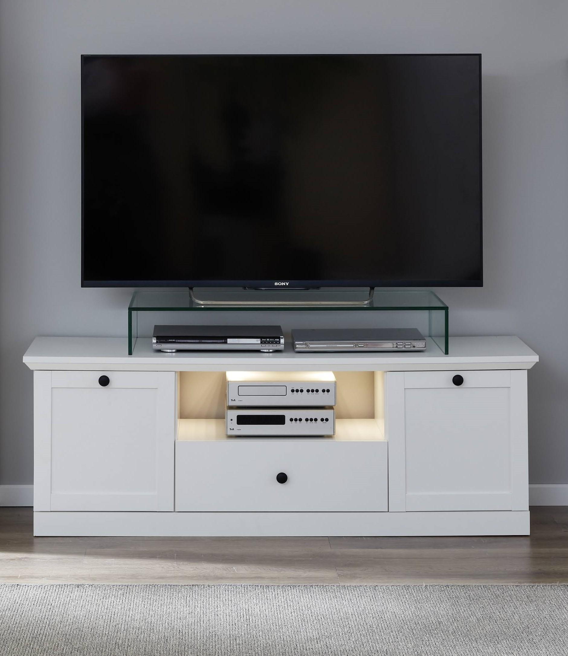 TV Element Country Weiß im Landhausstil