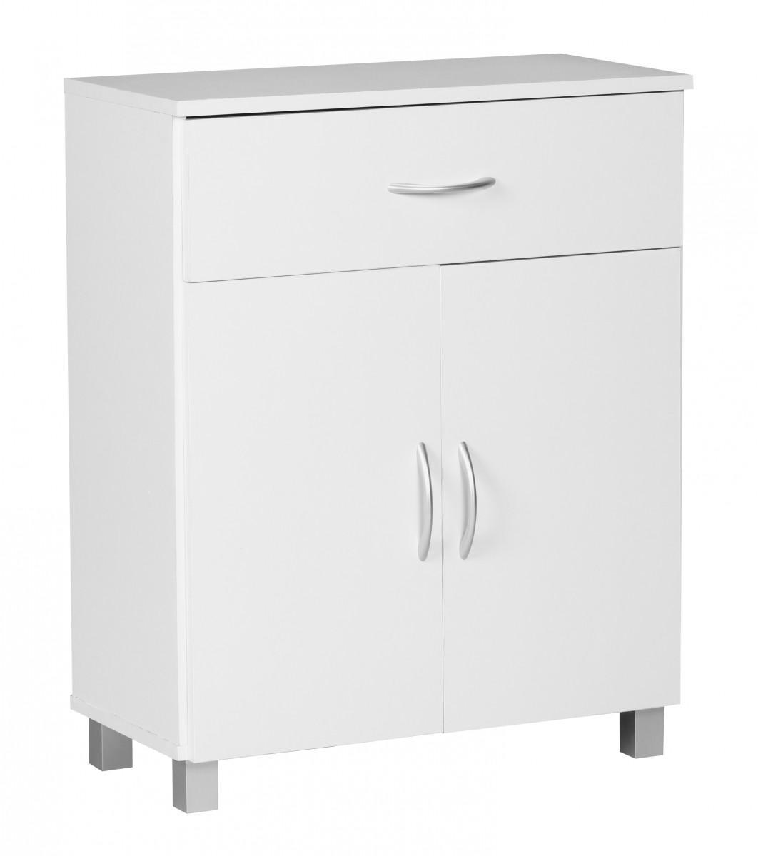 Sideboard Weiss 60 x 75 cm mit 2 Türen & 1 Schublade