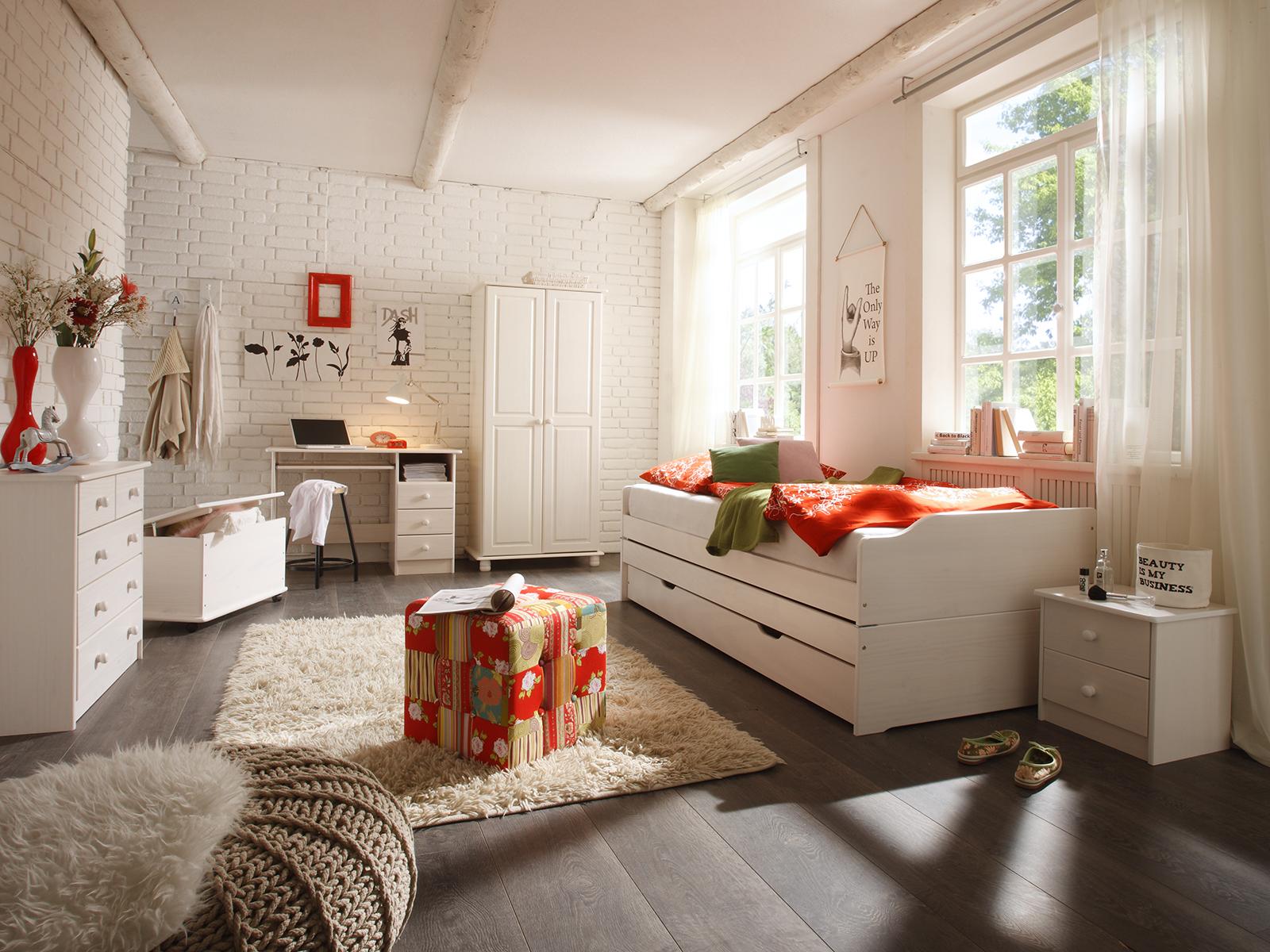 Sokara Sofabett mit 2 Lattenrosten Zerlegbar Weiß