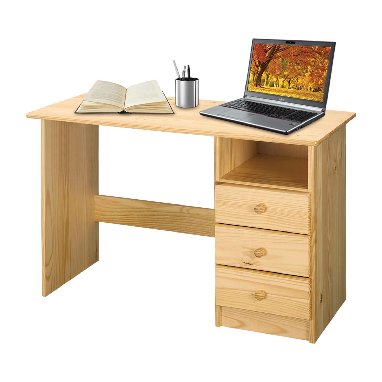 Layla Schreibtisch 110x54 mit 3 Schubladen Kiefer