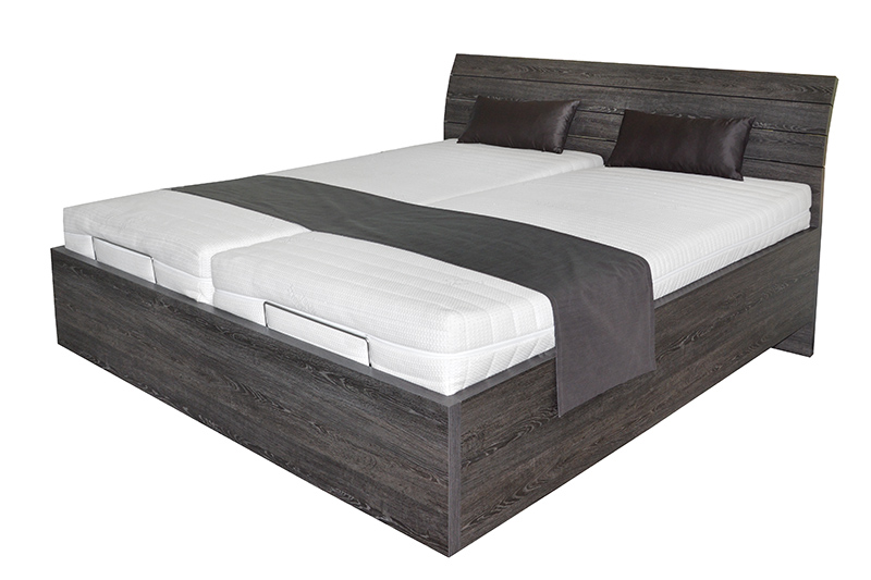 Schwebendes Bett Rielle Basic 90x190 Eiche Schwarz