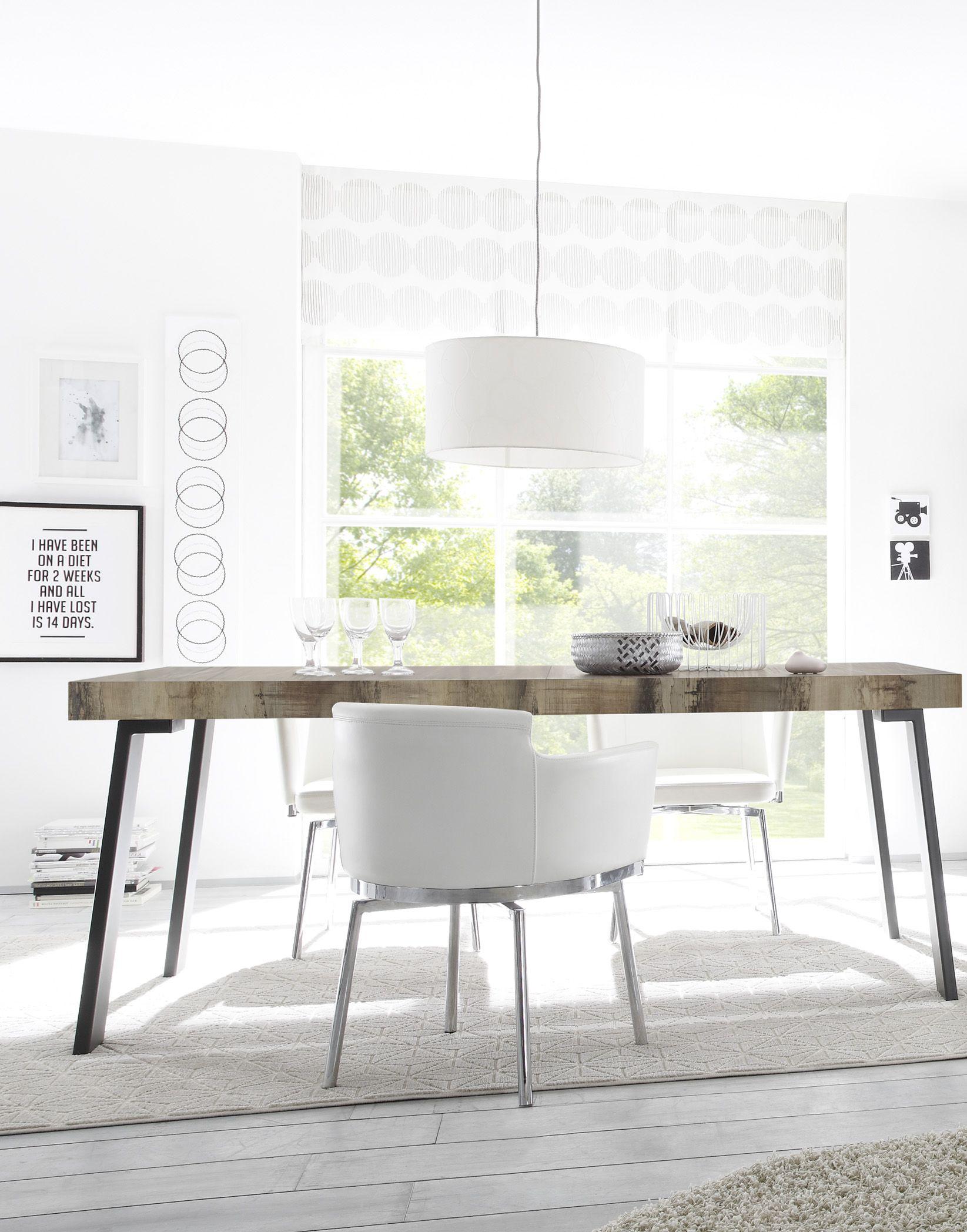 Esszimmertisch mit Metallfüßen Pina 168cm