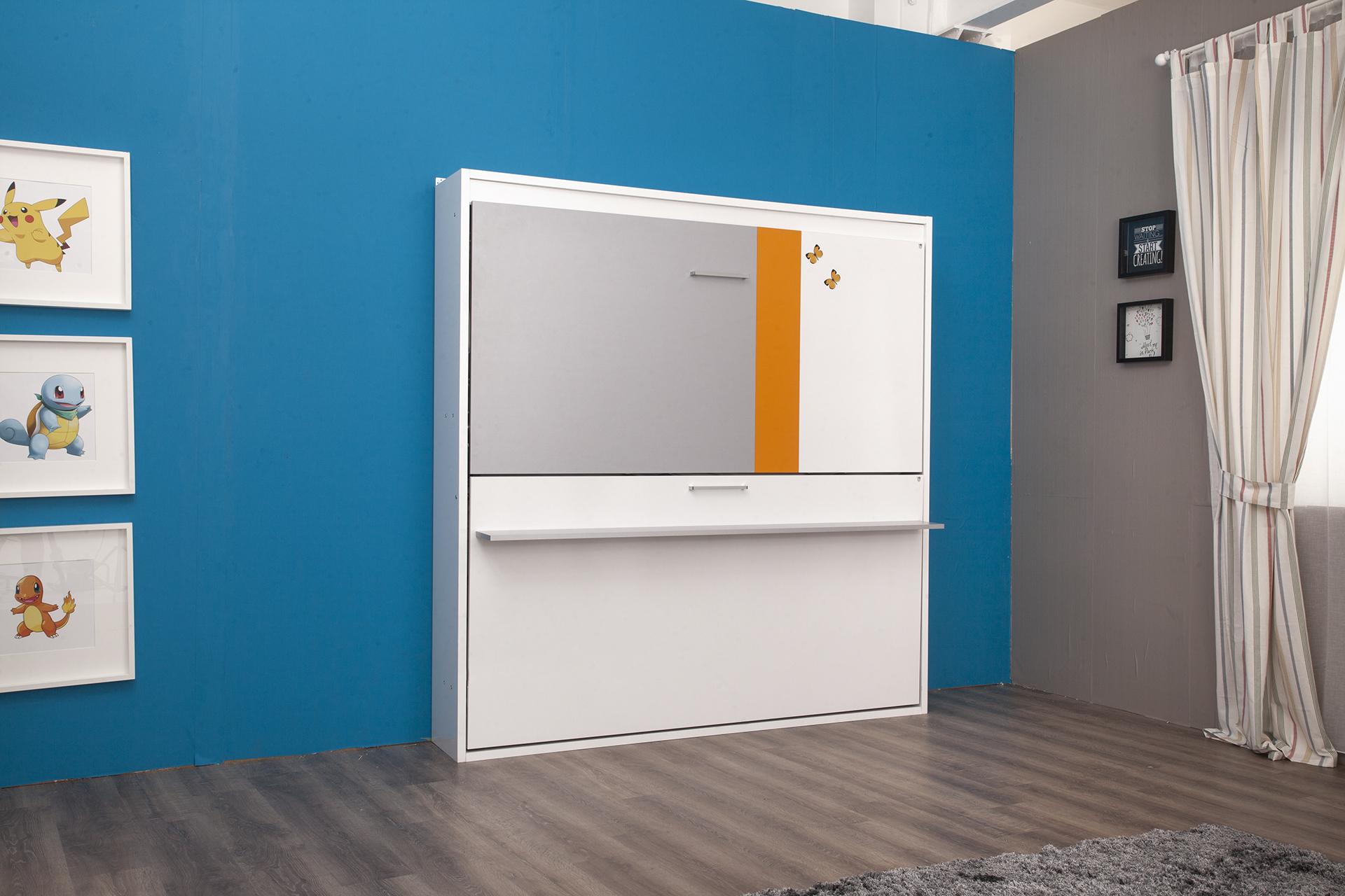 Multimo Etagenbett Smart Bunk in Weiß Grau Orange