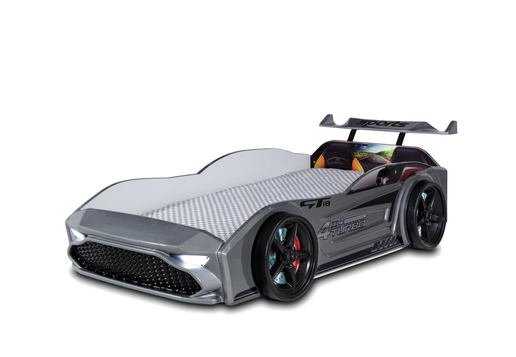 Kinder Autobett GT18 Turbo 4x4 in Grau