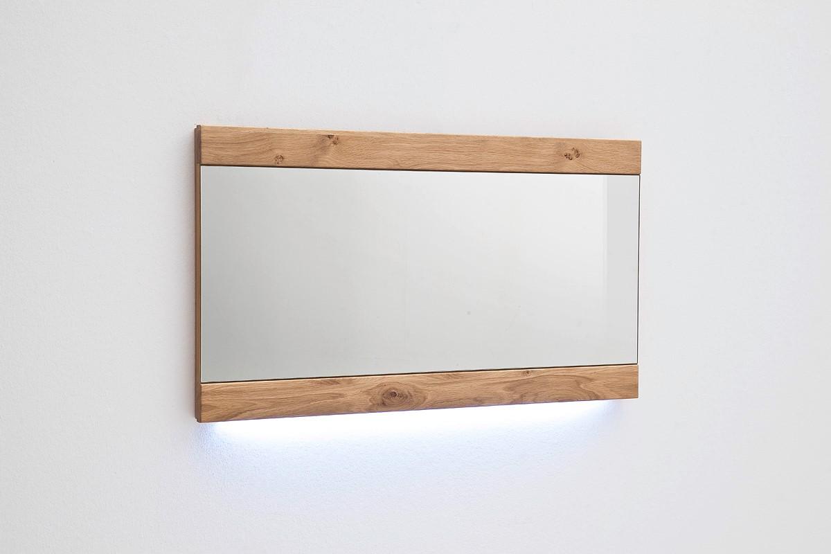 Wandspiegel Meja in Asteiche Bianco massiv Horizontal