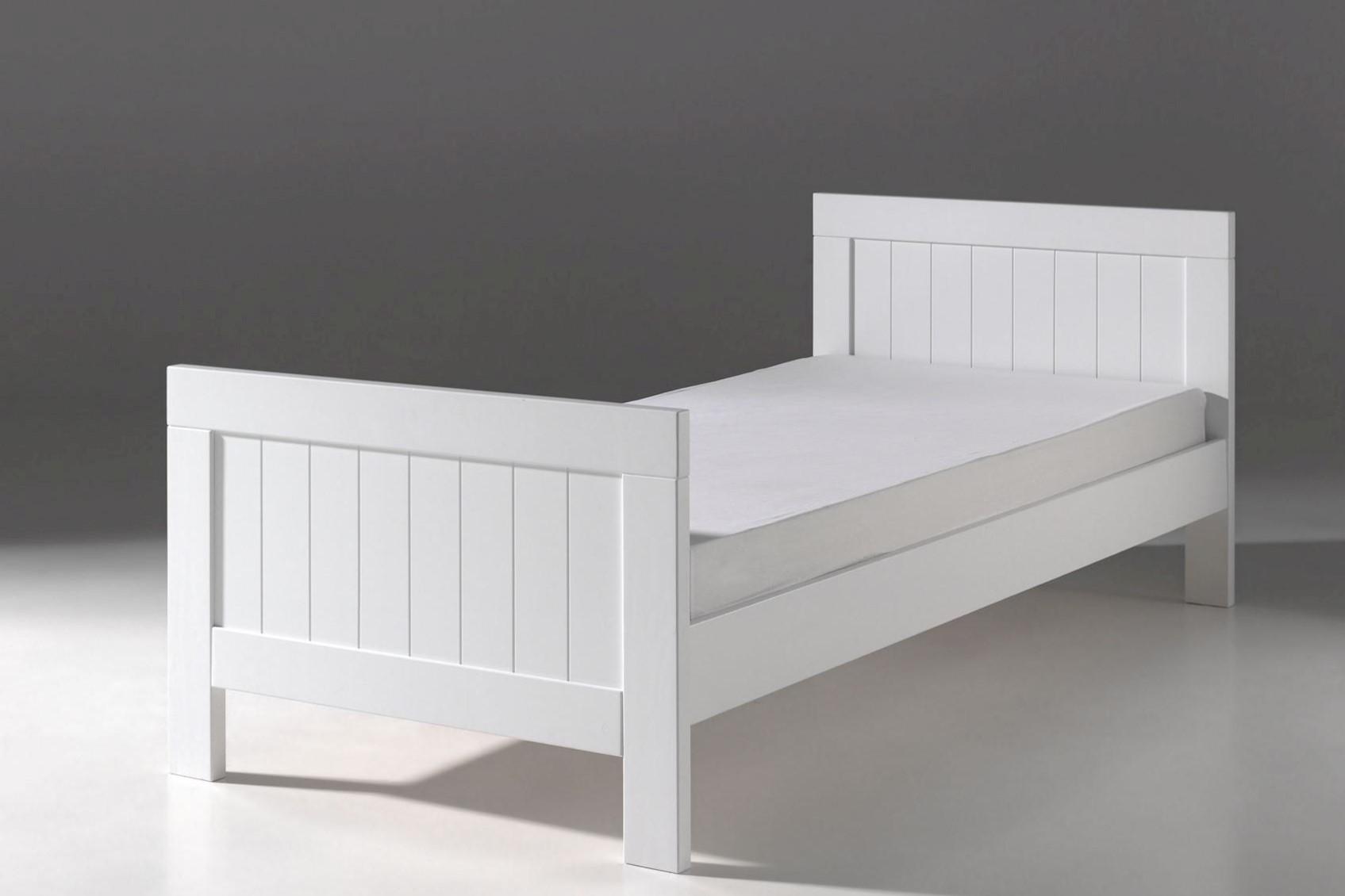 Kinderbett Iny 90x200 in Weiß MDF