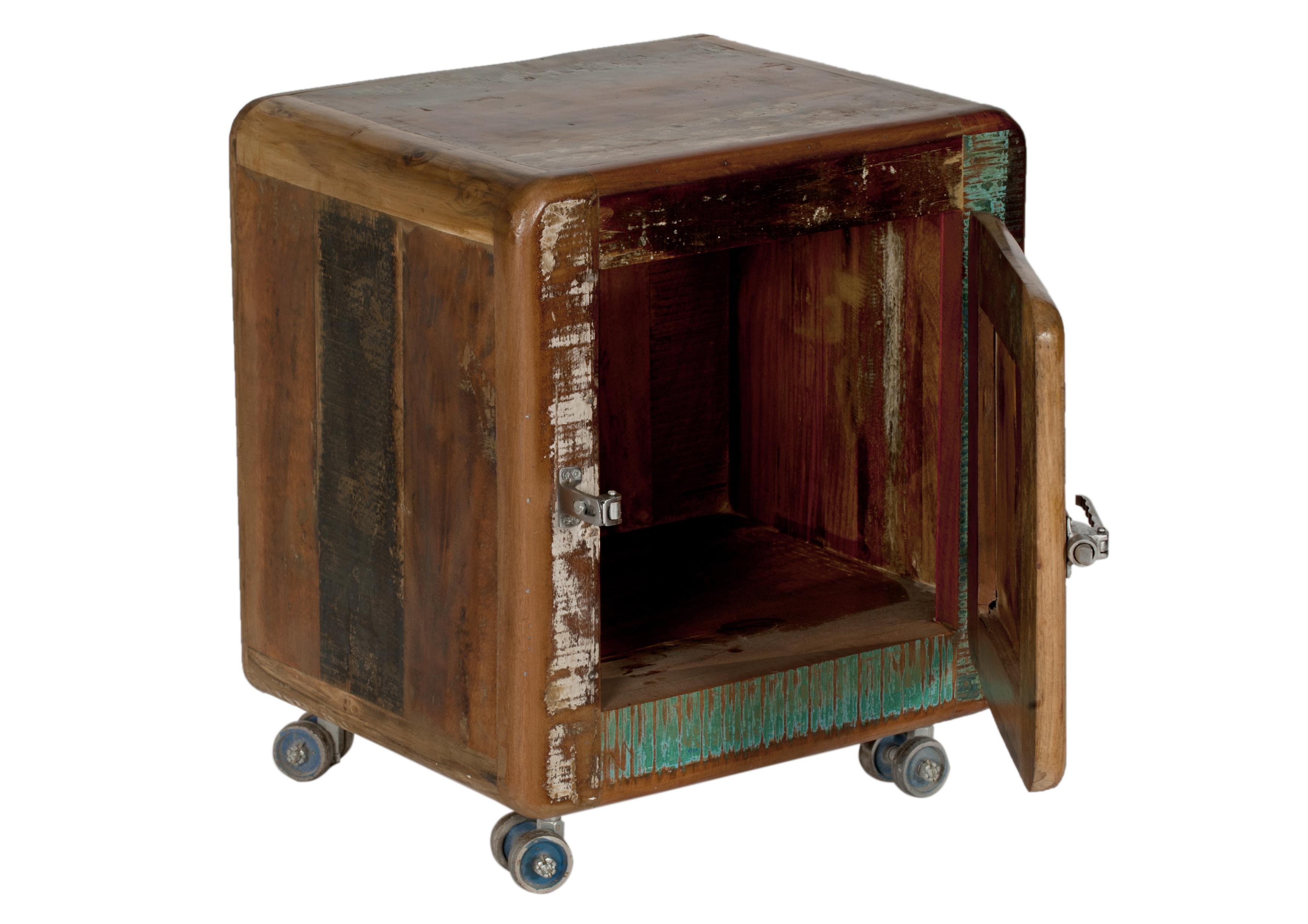 Sit Nachttisch Fridge aus recyceltem Altholz