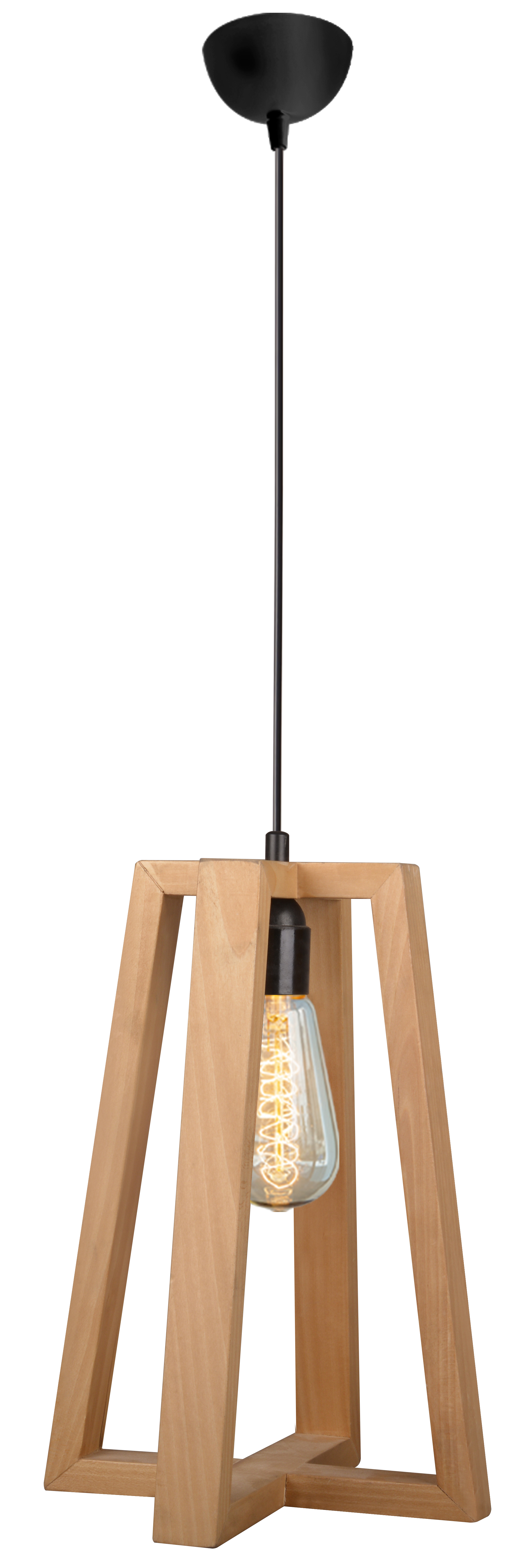 Almila Deckenlampe Origami in eleganter Holzoptik