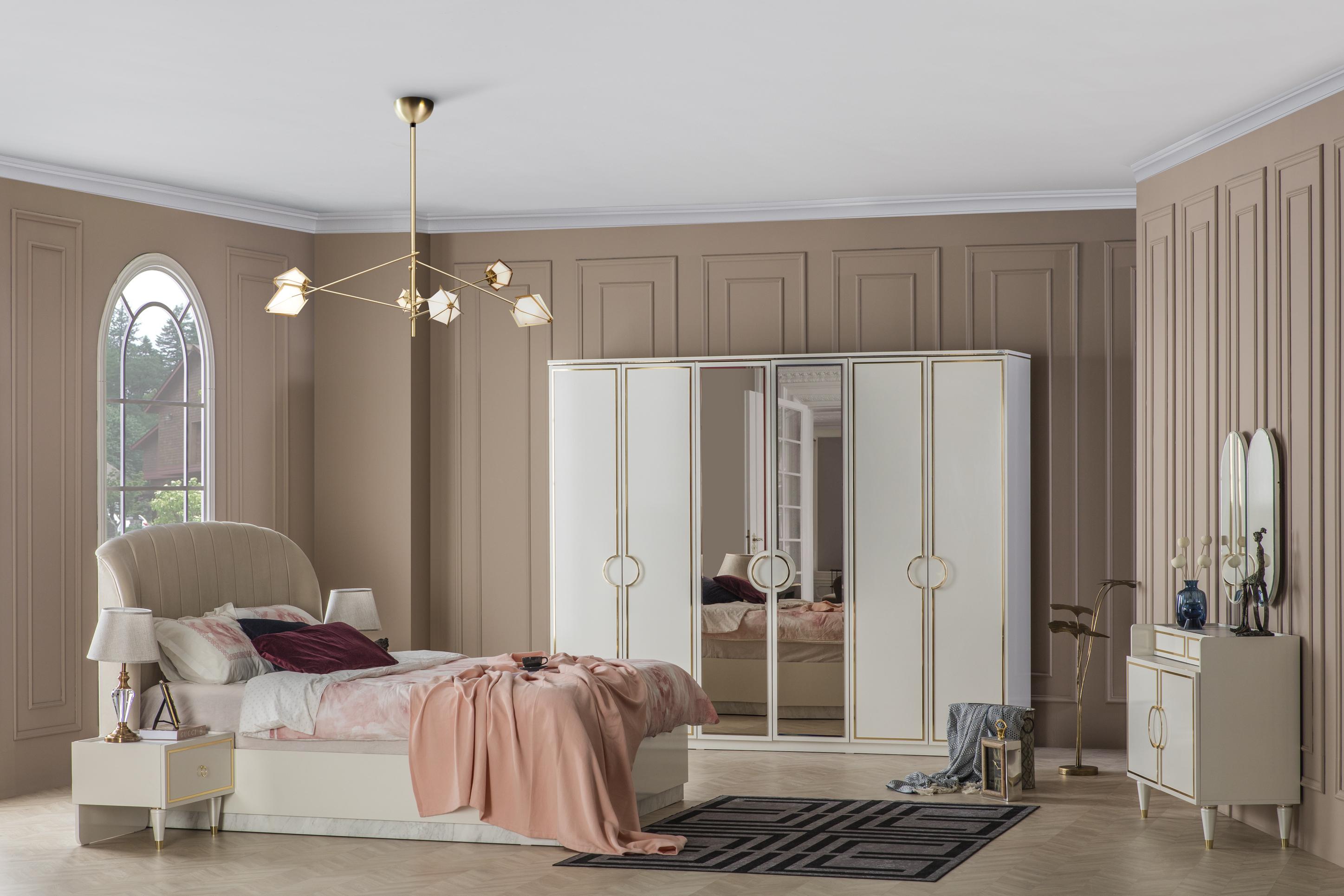 Weltew Schlafzimmer Set 5-teilig 160x200 cm Gino