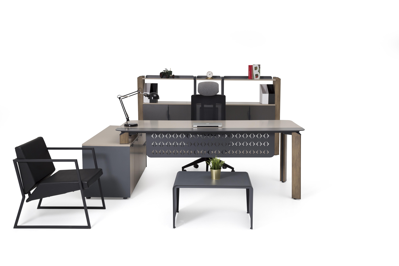 Ovali Büromöbel Set komplett Twist L2 180x90 cm