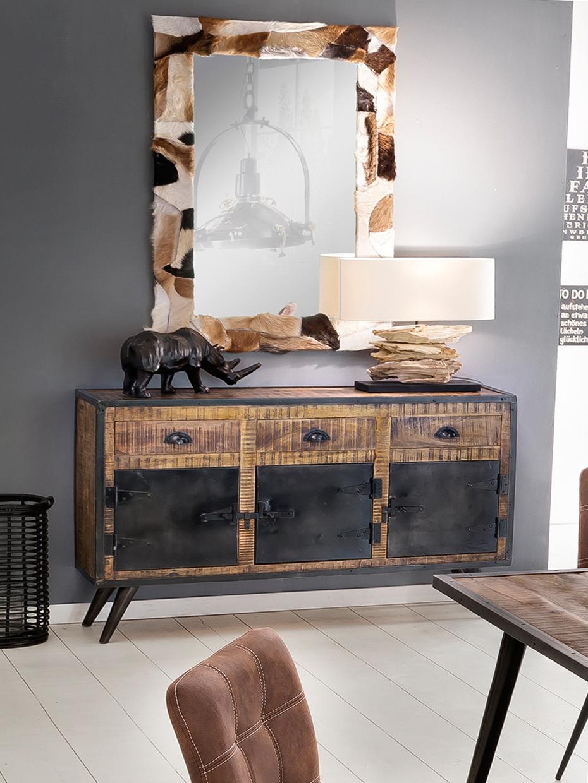 Sit Iron Sideboard aus Mangoholz 3-türig