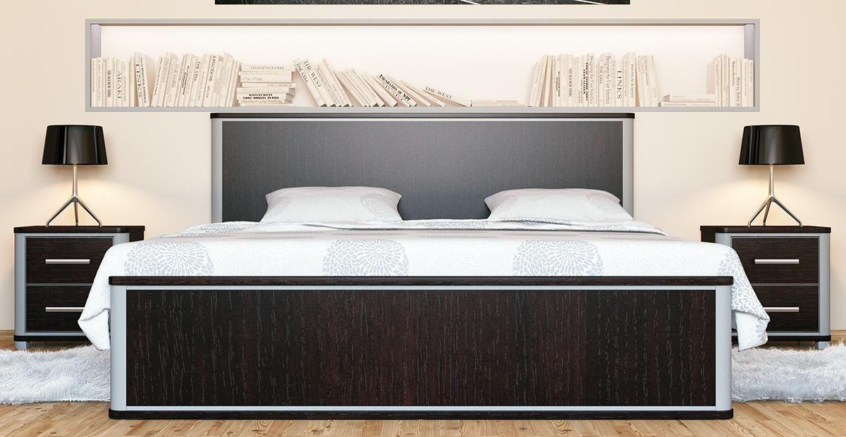 Schlafzimmer in Eiche Niagara Optik Naomi 4-teilig
