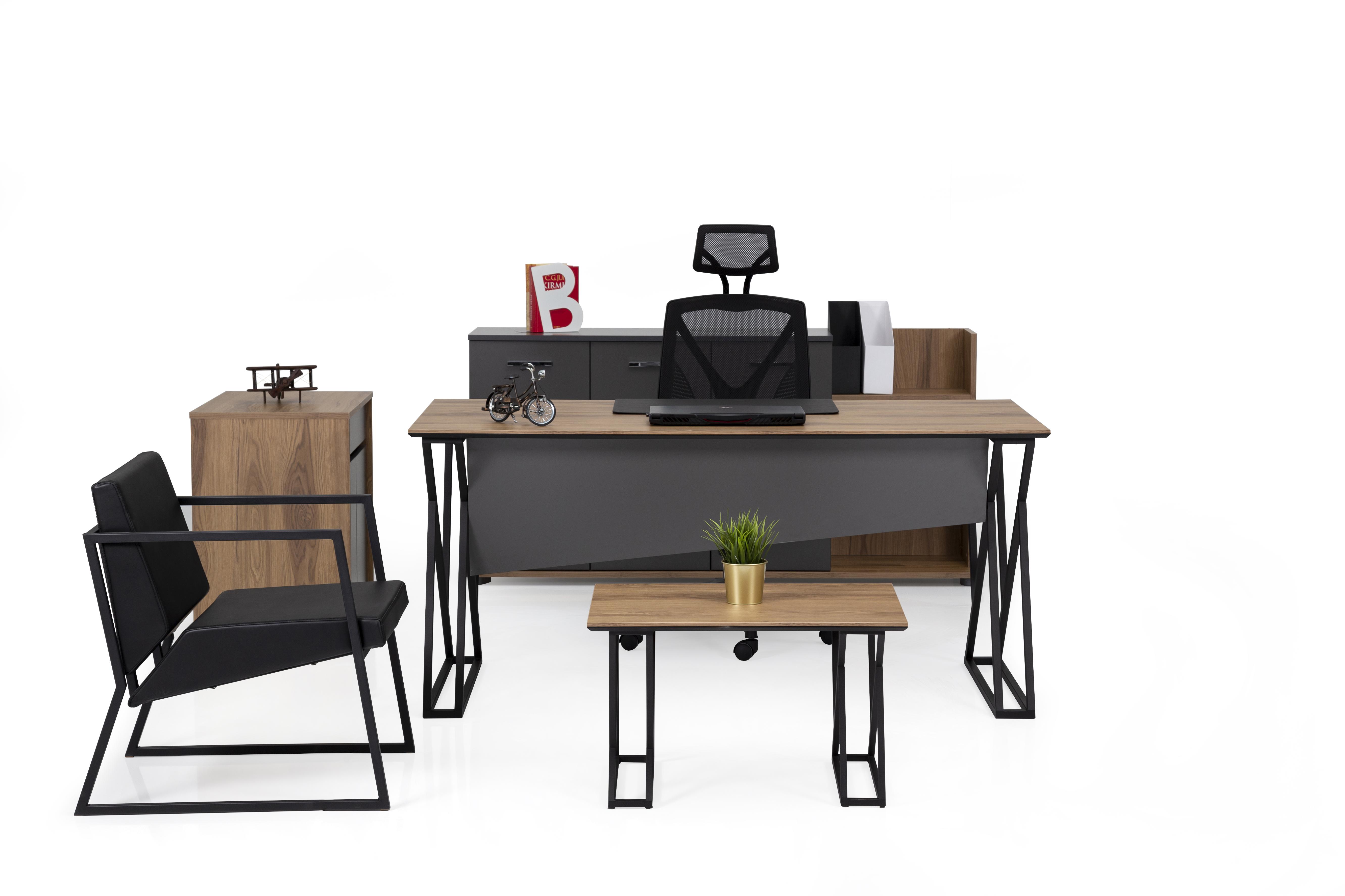 Ovali Büromöbel komplett 4-teilig Buton 140x80 cm