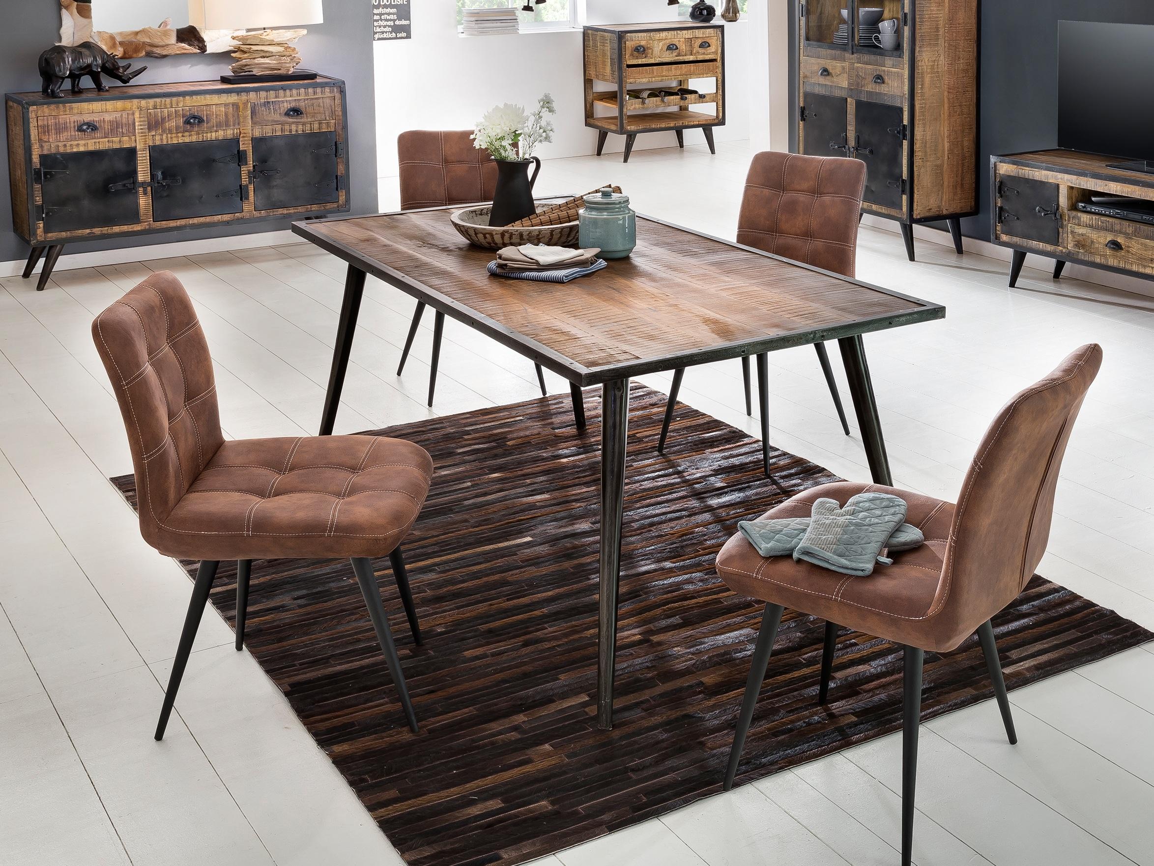 Sit Esszimmertisch Iron aus Mangoholz 140x70