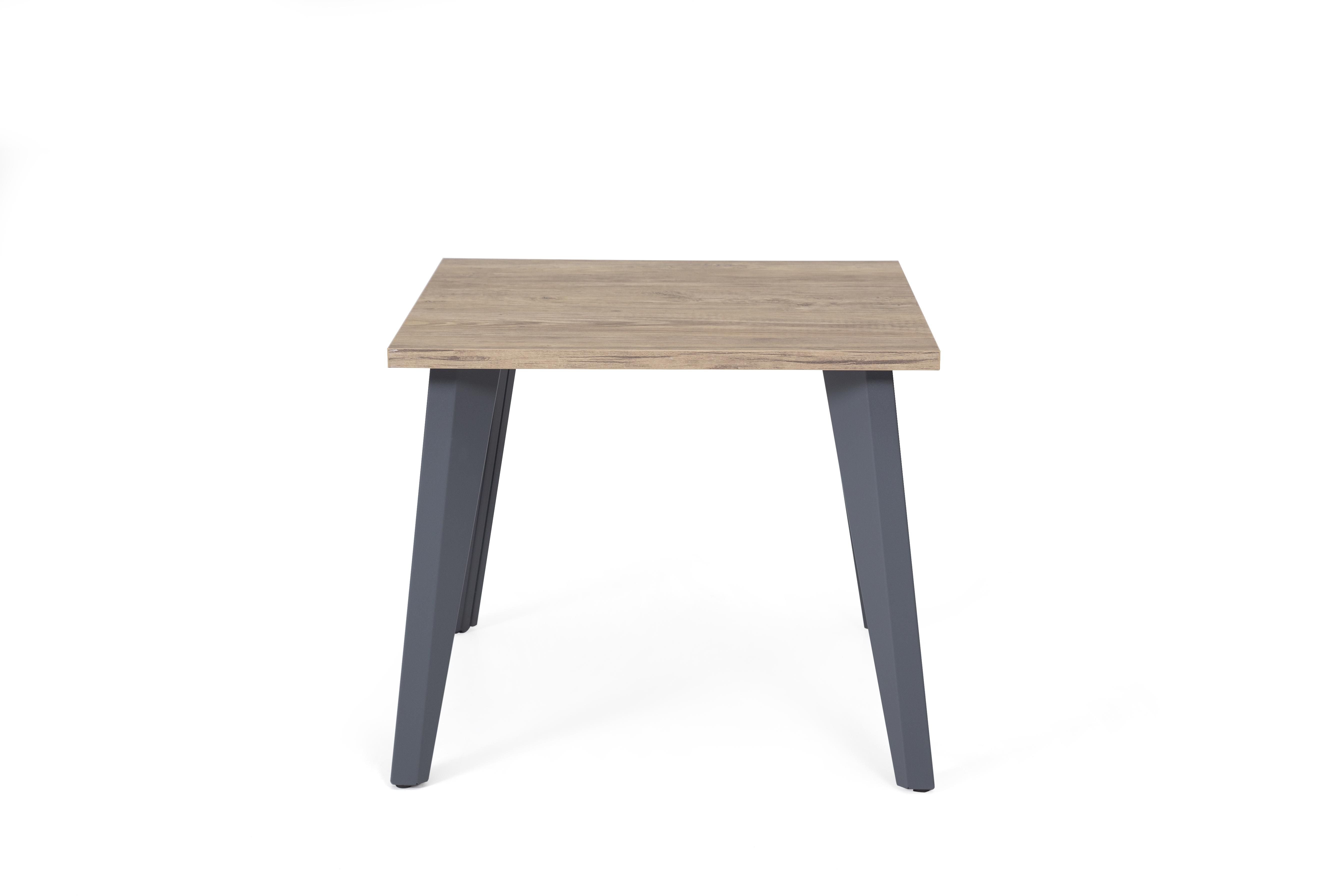 Ovali Beistelltisch 4-beinig Eco Grau 70x50x44 cm