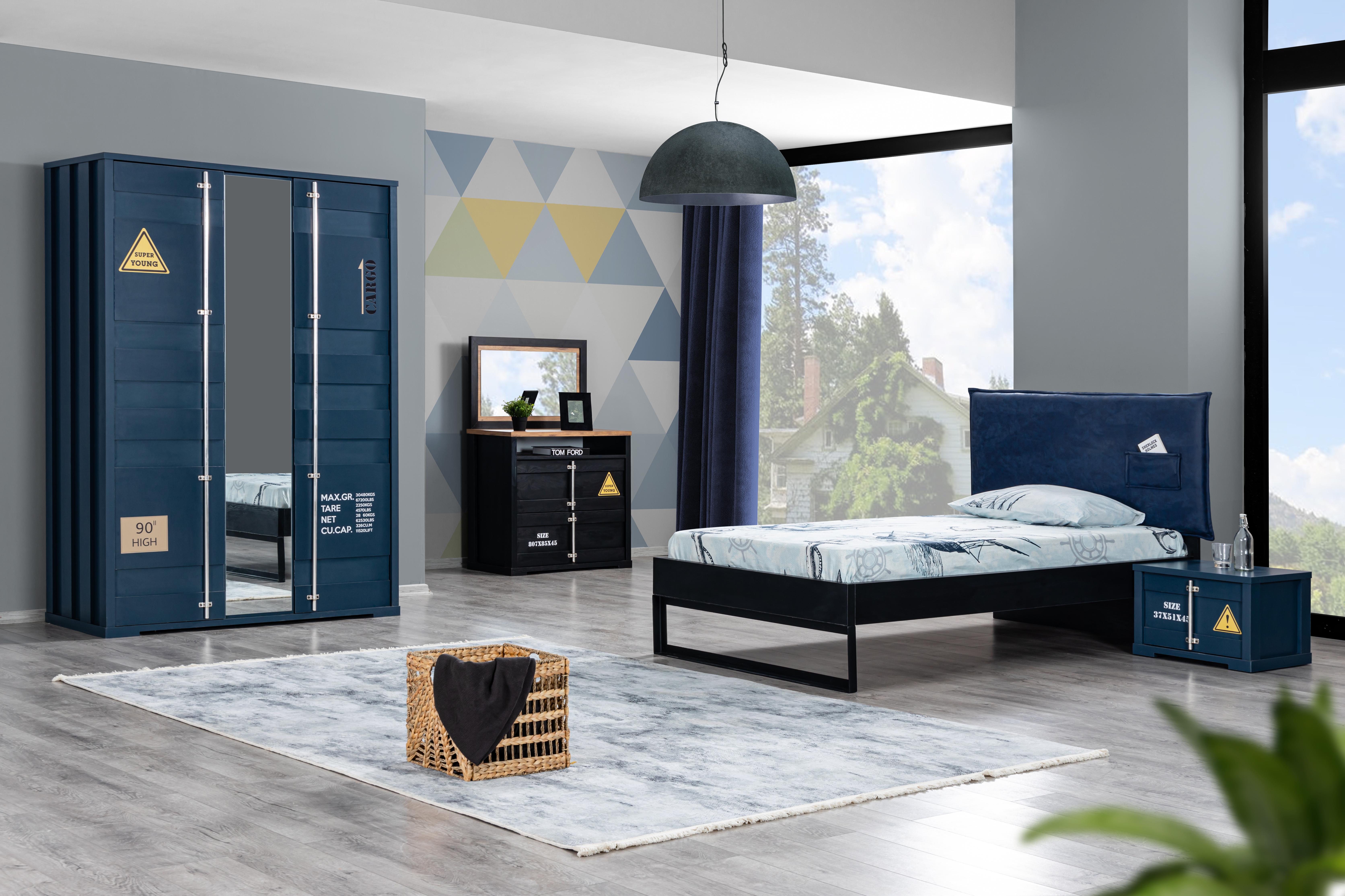 Odacix Jugendzimmer Container mit Spiegelkommode
