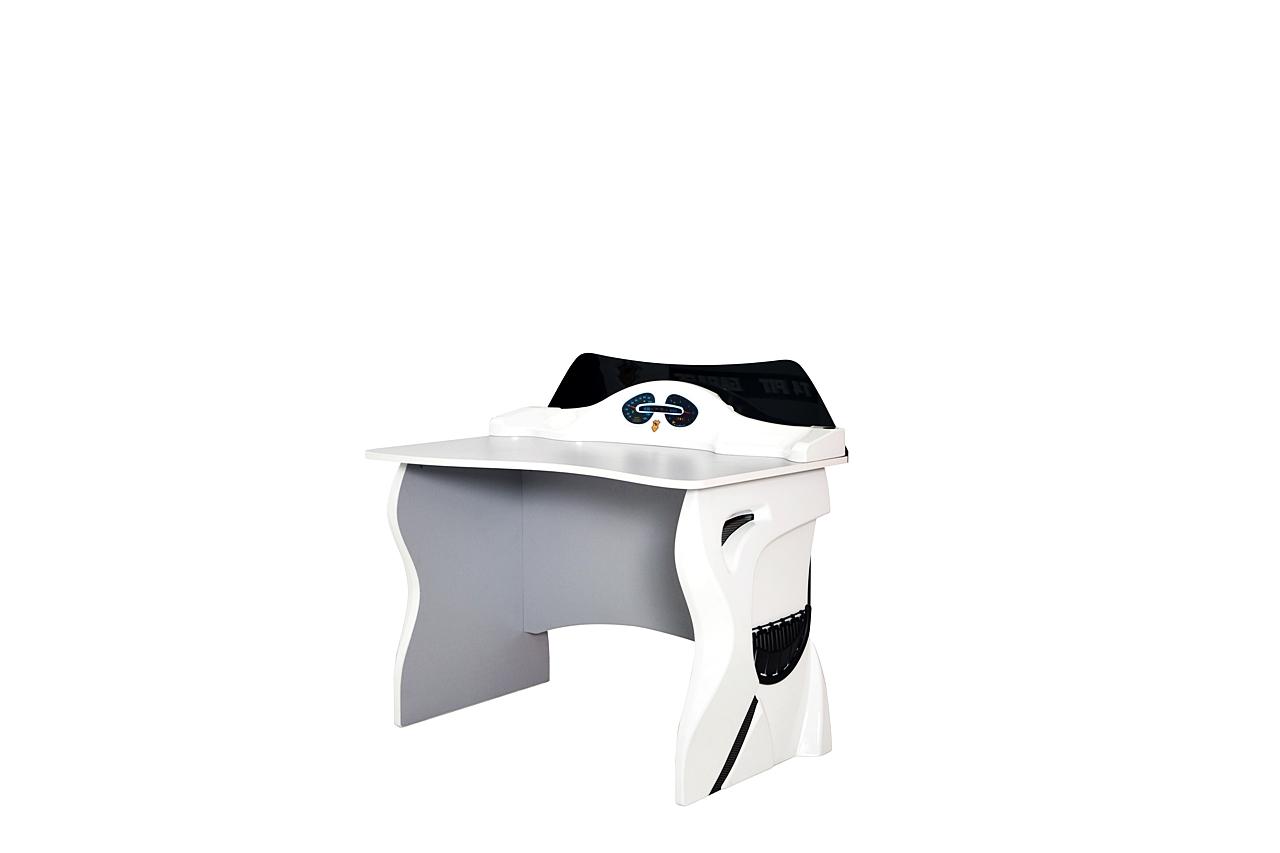 Titi Schreibtisch für Kinderzimmer Cat Garage in Weiß