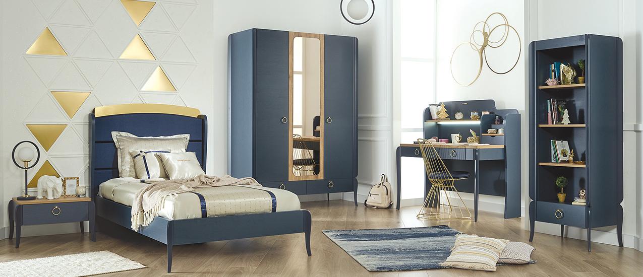Almila Jugendzimmer komplett Elegant Blue 120x200 cm
