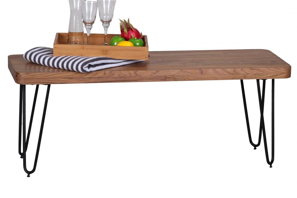 Massivholz Akazie Sitzbank 120 x 40 x 45 cm Neu