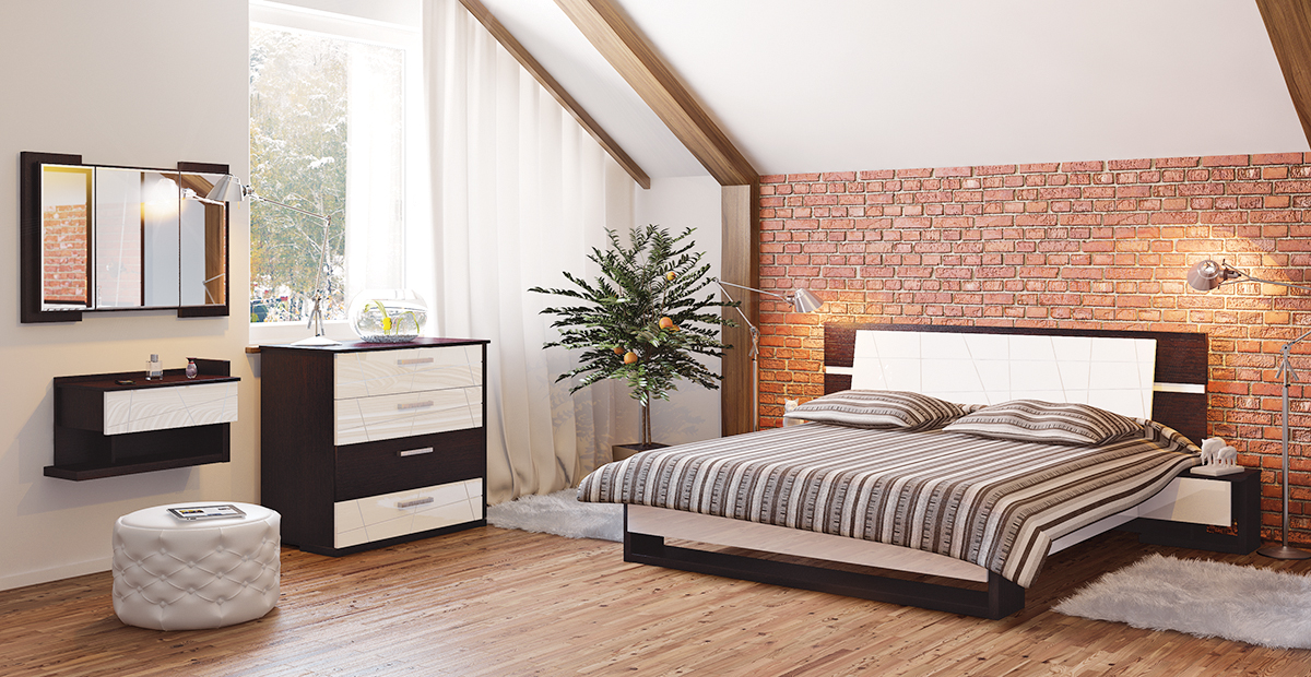 Bett inklusive Lattenrost Barcelona 160x200