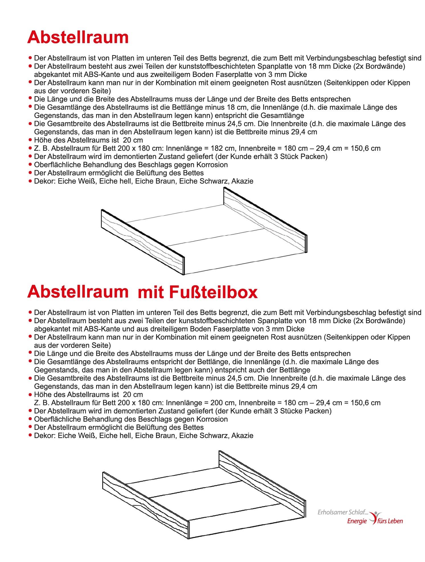Schwebendes Bett Rielle Basic 180x190 Eiche Braun