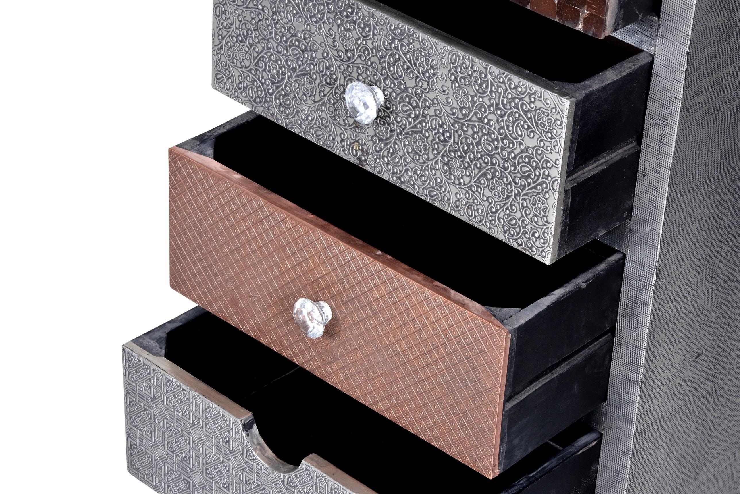 Kommode Metall Meton mit vielen Dekormaterialien