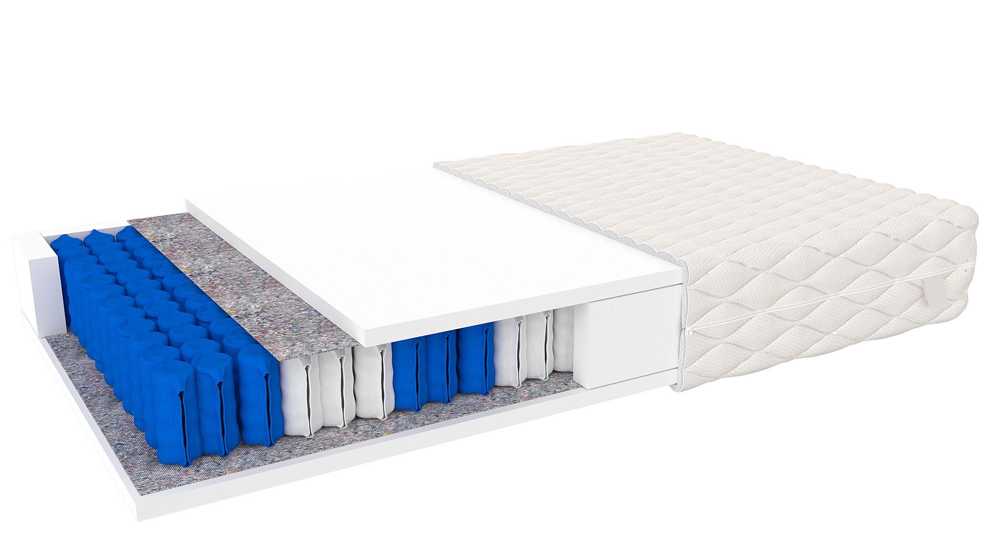 Tonnentaschenfederkern Matratze Trevisio 80x200