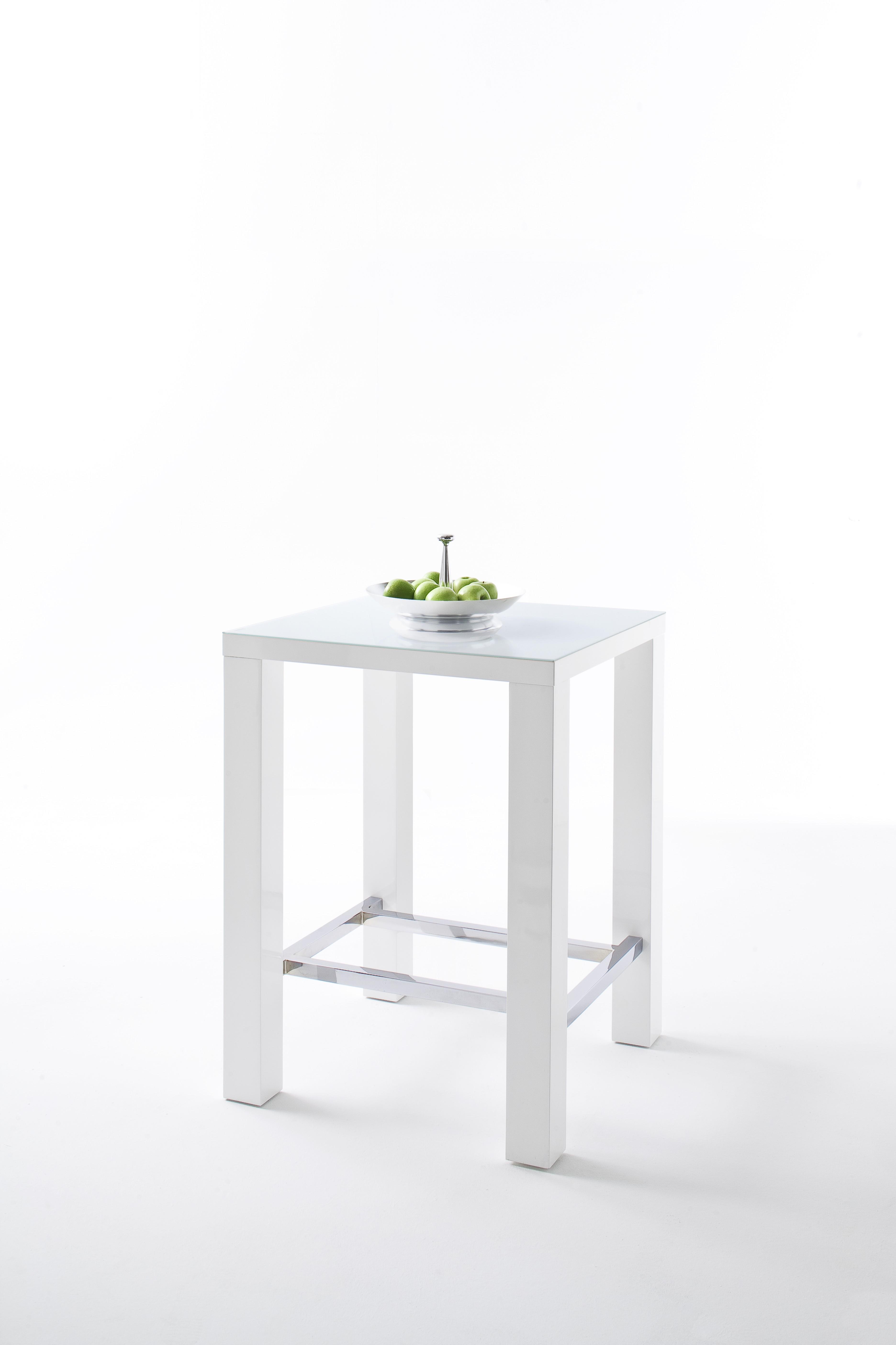 Jelly Bartisch Hochglanz Weiß 80x107x80