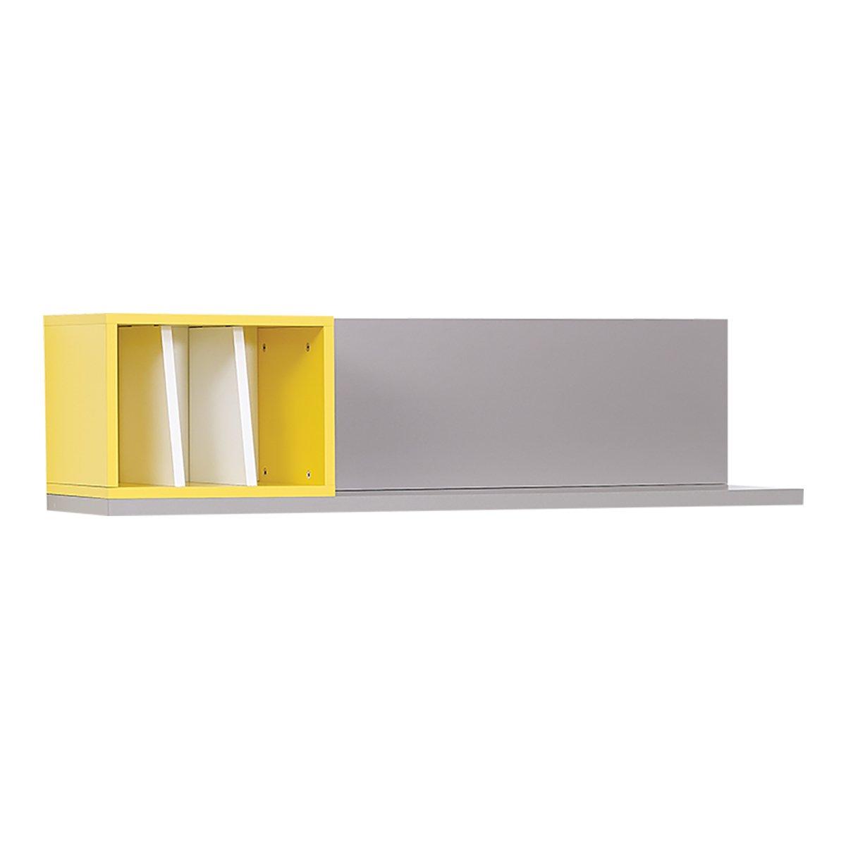 Almila Design Wandregal in Grau und Gelb Vector