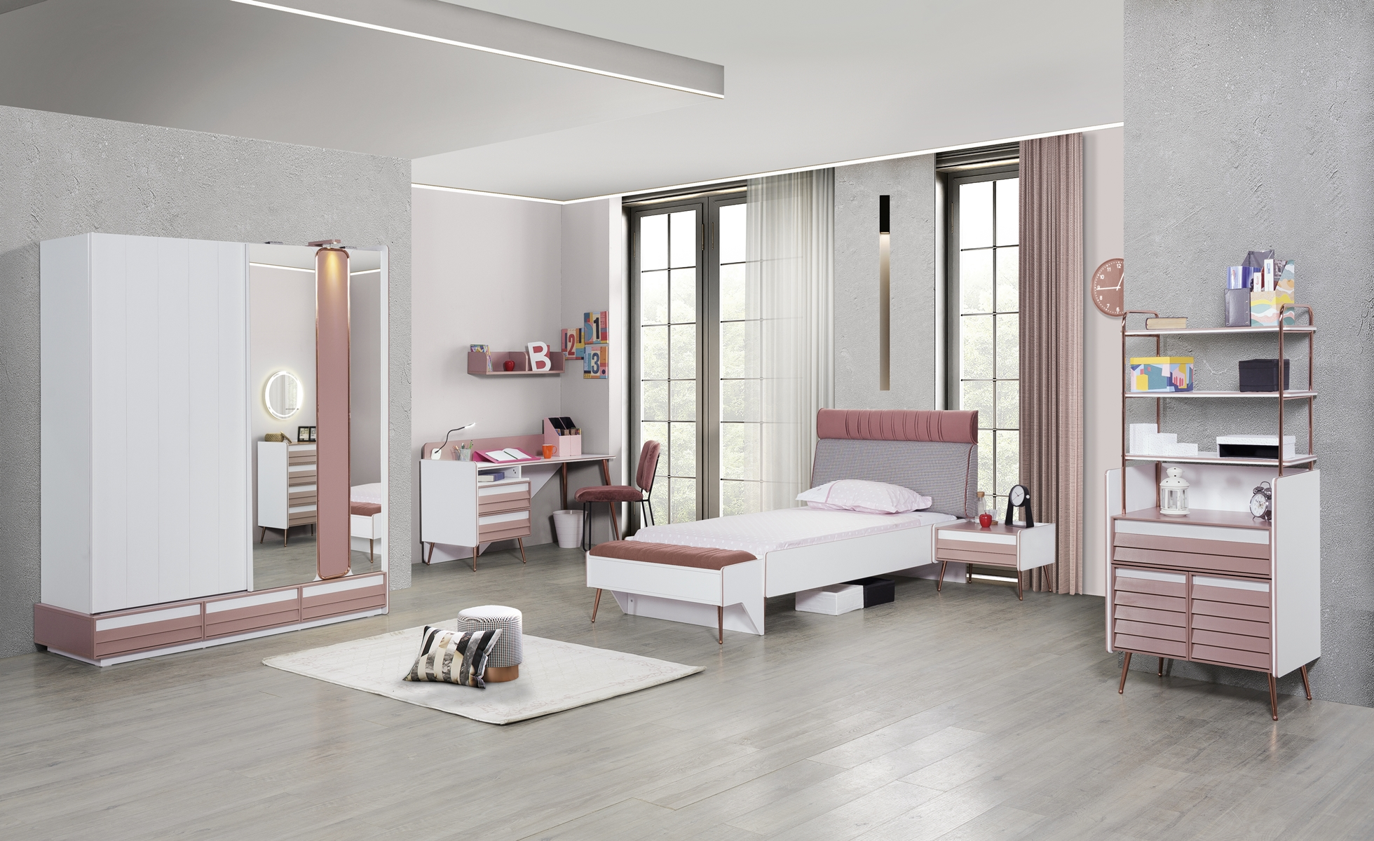 Titi Mädchenzimmer Rosi komplett Set 7-teilig