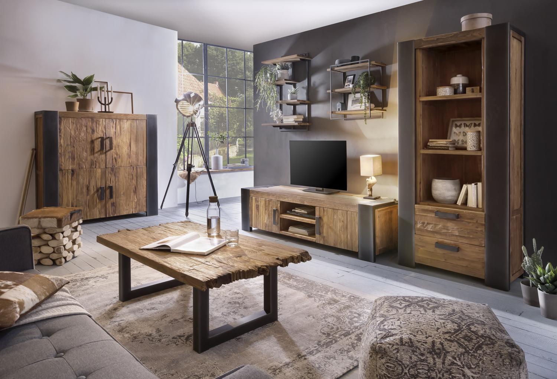 Sit TV Unterschrank Croco Teakholz 2-türig