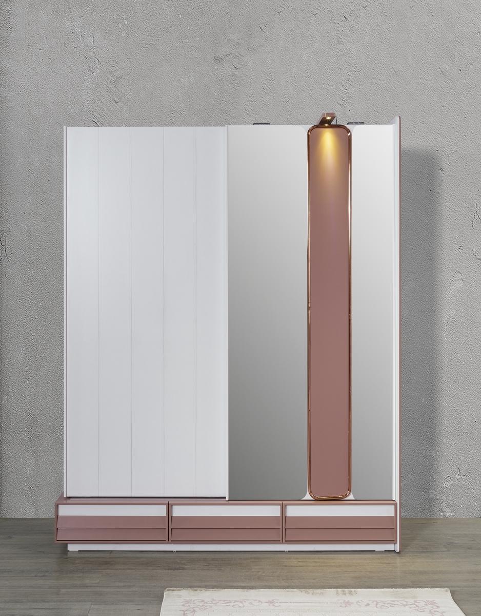Titi Schiebetürenschrank Rosi mit LEDs und Spiegel