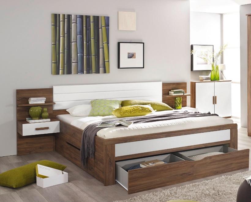 Bettanlage Bernau mit drei Bettschubkästen 160x200