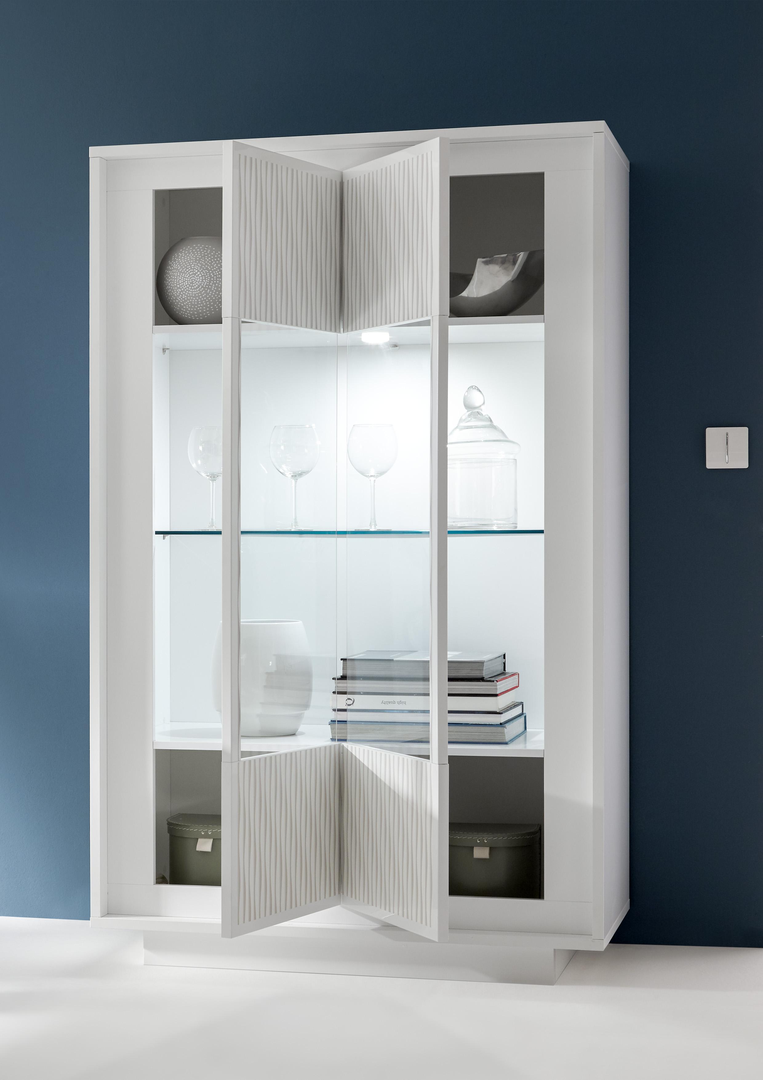 Heaven Wohnwand 3-teilig Weiß Weiß Matt