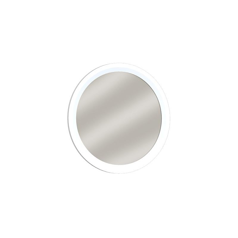 Almila Wandspiegel rund Elegant White 70x70 cm