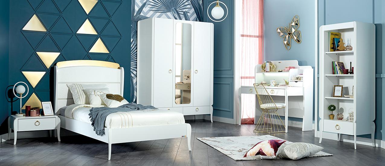Almila Design Jugendzimmer Elegant White 120x200 cm