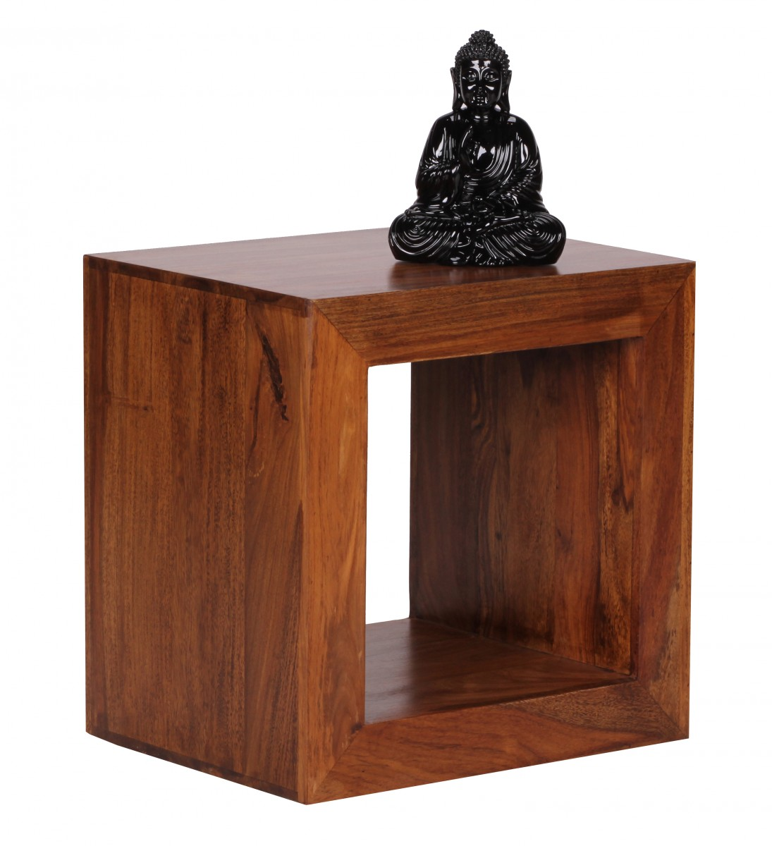 Sheesham Standregal Massiv 44x44 cm Cube Massivholz