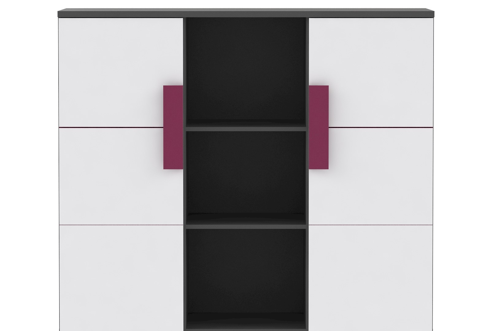 Kommode in Weiß Grau Trinity mit 2 Türen