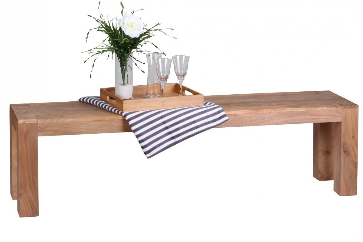 Esszimmer Sitzbank Bank 160 x 35 cm Akazie Holz