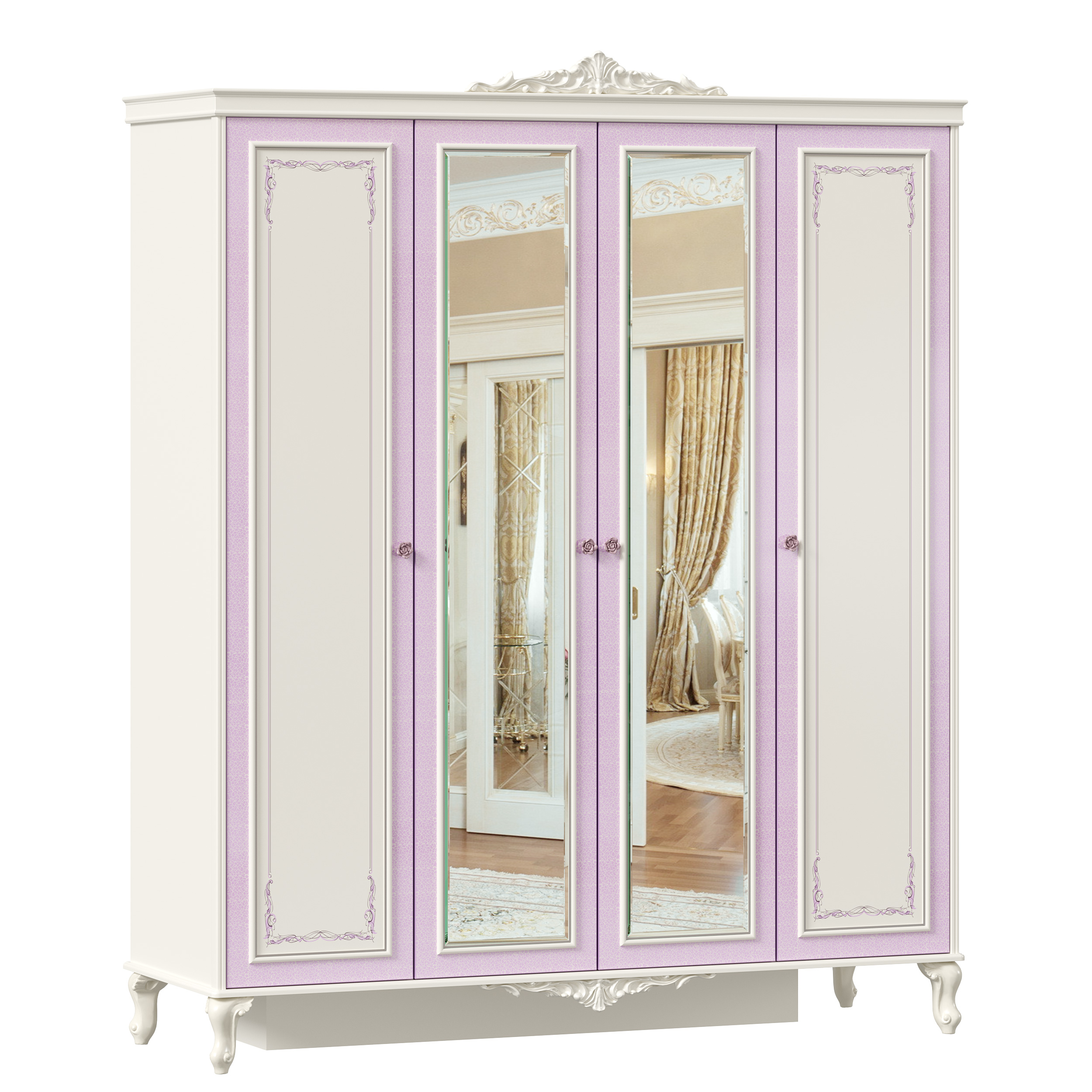 Lubidom Kleiderschrank Marquisa mit Spiegeltüren