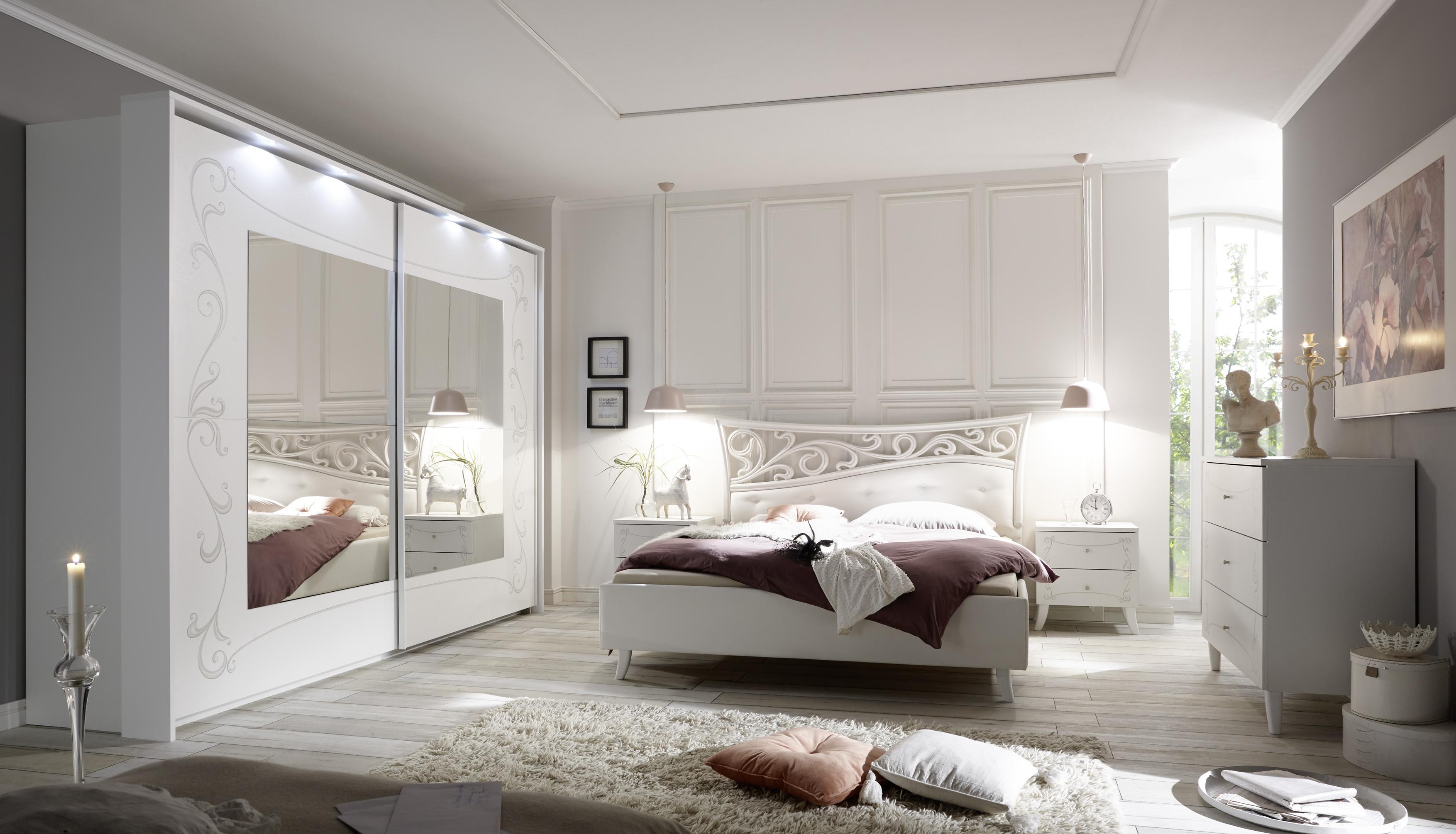 Schlafzimmer Set Sereina in romantischem Stil 275cm
