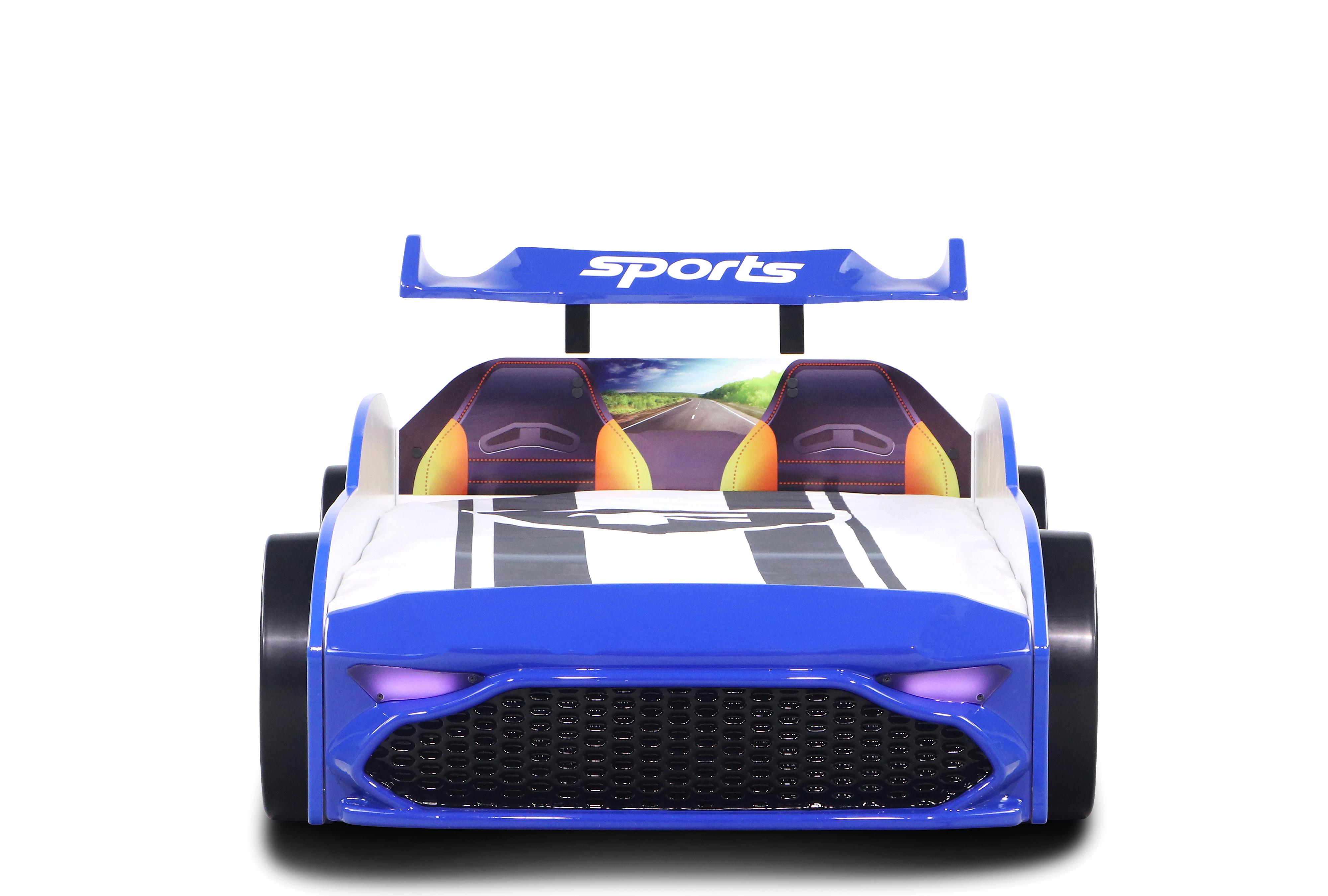 Kinderautobett GT18 Turbo 4x4 in Blau Ausstellung