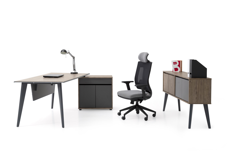 Ovali Schreibtisch Set 3-teilig Eco L3 160x80 cm