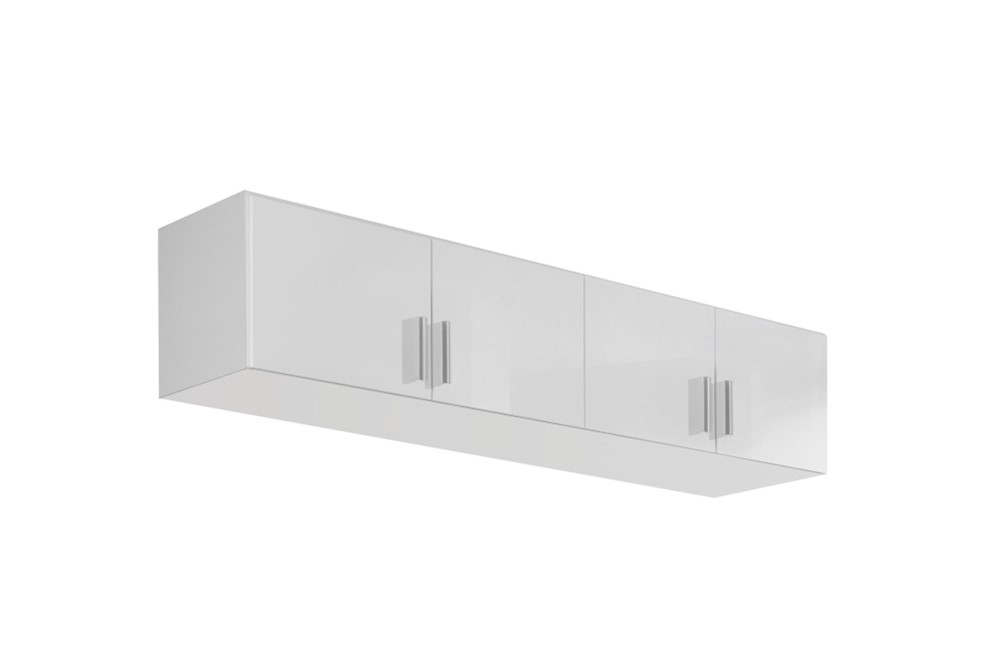 Schrankaufsatz CELLE weiß / alpinweiß 181 x 39 x 54 cm