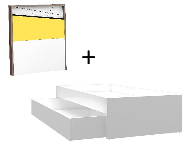 Almila Kinderbett mit Ausziehbett Vector in Weiß