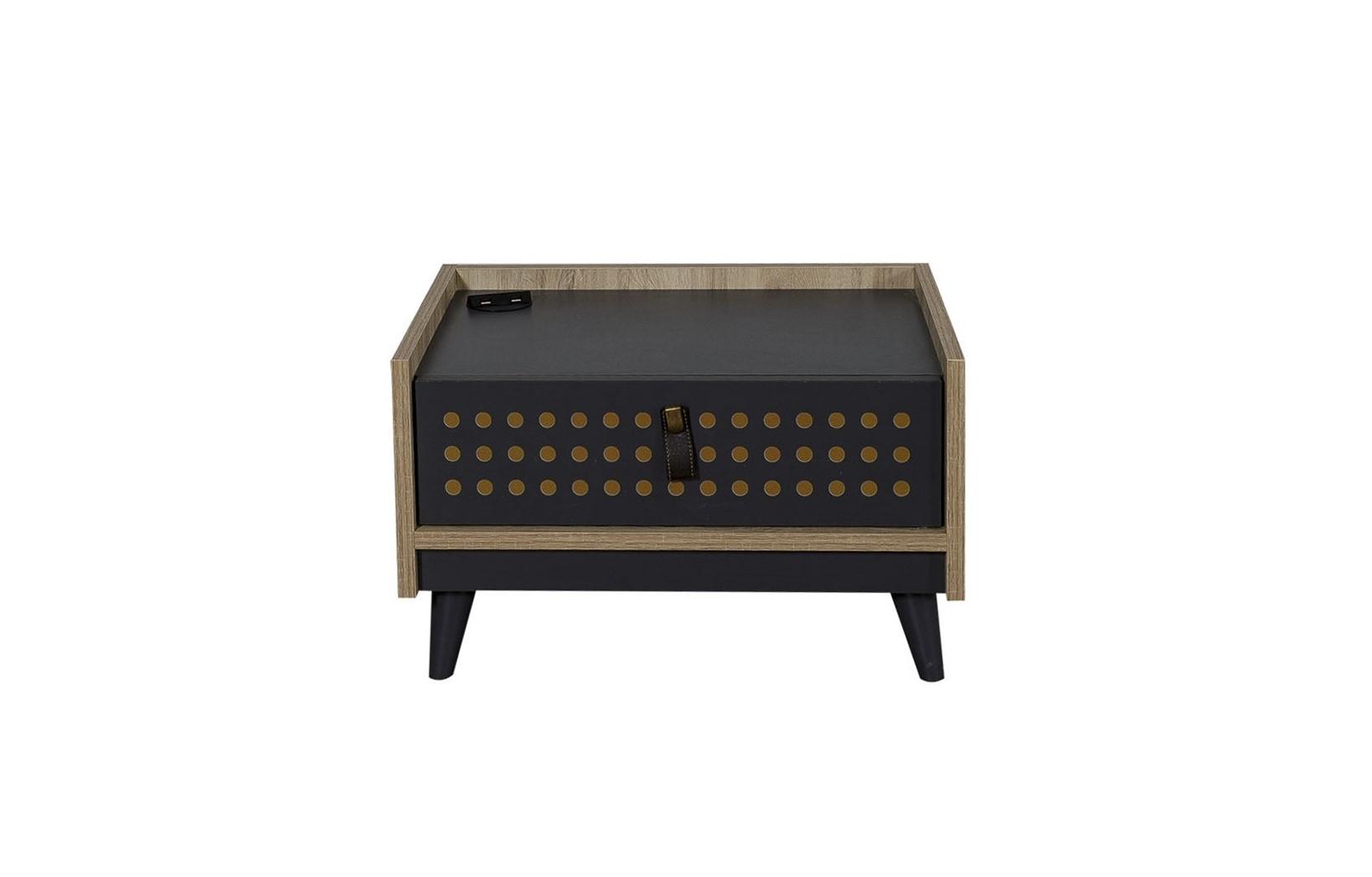 Titi Nachttisch Dark Point mit einer Schublade